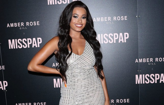 Love Island winner Amber Gill new hair at Miss Pap launch