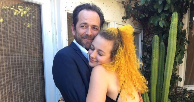 Luke Perry and daughter Sophie