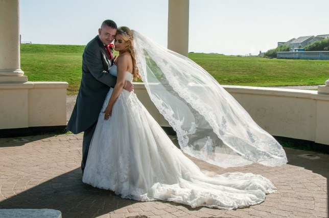 Gemma Dobbing on her wedding day