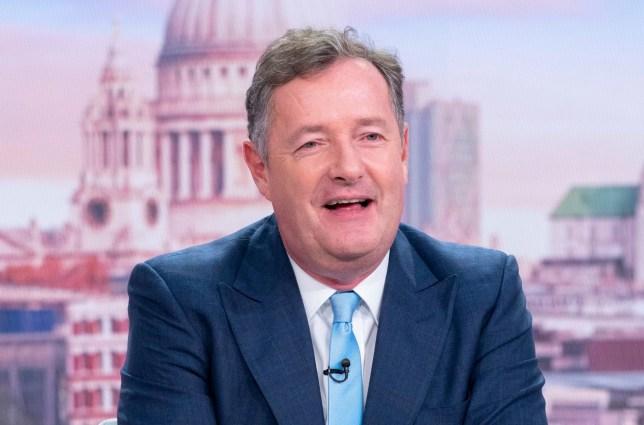 Editorial use only Mandatory Credit: Photo by Ken McKay/ITV/REX (10443517at) Piers Morgan 'Good Morning Britain' TV show, London, UK - 14 Oct 2019