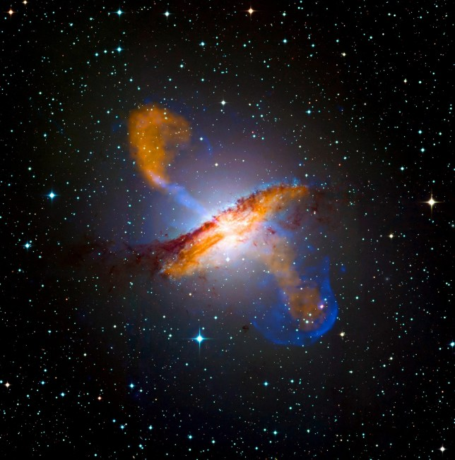 Photograph of a black hole in Centaures A, a prominent galaxy in the constellation of Centaurus. Dated 2009. (Photo by Universal History Archive/Universal Images Group via Getty Images)