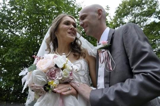 Christopher Rimmer and Viktorija Vakulenko on their wedding day