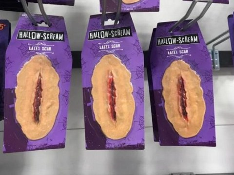 Shoppers think this Halloween latex scar looks like a 'bloody vagina'