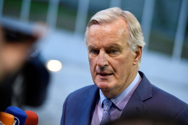 EU Brexit negotiator Michel Barnier arrives to answer journalists prior to a summit on Brexit in Luxembourg on 15 October 2019. (Photo by John THYS / AFP) (Photo by JOHN THYS/AFP via Getty Images)