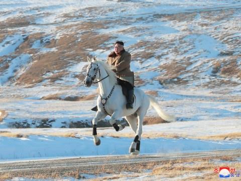 Kim Jong Un channels his inner Putin during horseback mountain ride
