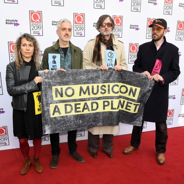 Jarvis Cocker and extinction rebellion protesters The Q Awards