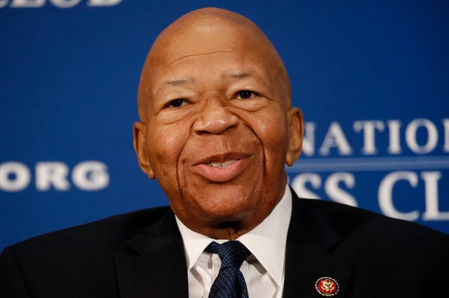 FILE - In this Aug. 7, 2019, file photo, Rep. Elijah Cummings, D-Md., speaks during a luncheon at the National Press Club in Washington. US Rep. Elijah Cummings has died from complications of longtime health challenges, his office said in a statement. (AP Photo/Patrick Semansky, File)