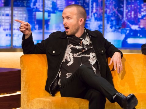 Breaking Bad's Aaron Paul is still shook over Rihanna kiss