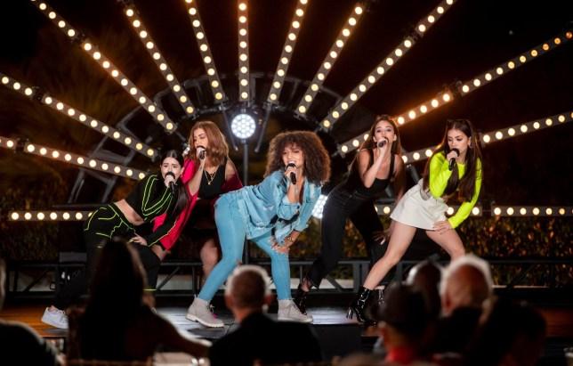 V5 performing on X Factor: Celebrity