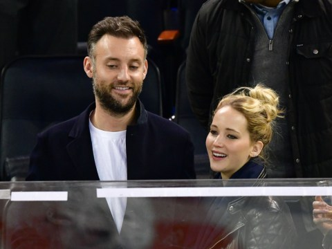 What does Jennifer Lawrence's new husband Cooke Maroney do and how long have they been together?
