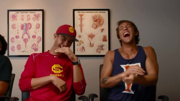 The Game Changers: Athletes can't contain giggles as vegan diet boosts erections by nearly 500% Picture: the game changers METROGRAB