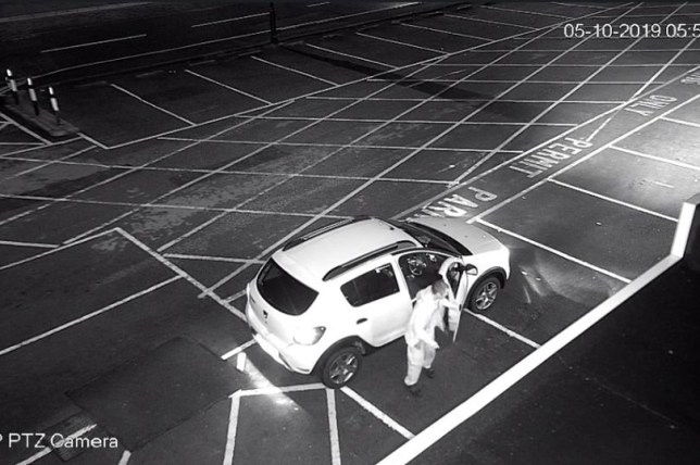 A driver who left his car in empty car park for just three minutes has been slapped with a ?100 fine. Richy Deane, 49 parked across three spaces (PICTURED) as he popped out to get money from an ATM. But despite no one else using the car park at 5.57am - Richy received a ?100 fine because he hadn't parked in a designated bay. ? WALES NEWS SERVICE
