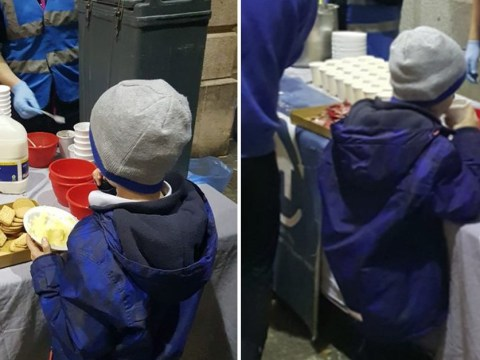 Heartbreaking images show homeless boy, 5, eating on Dublin streets