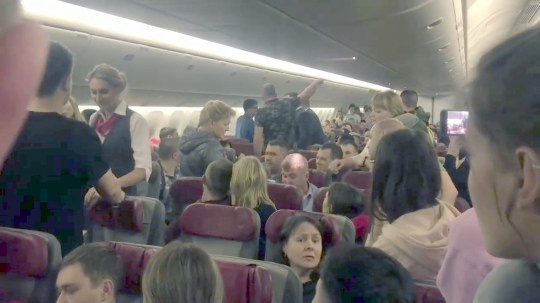 air rage on board of Moscow to Phuket plane