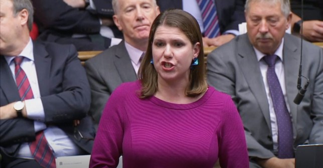 """Liberal Democrat leader Jo Swinson responds to Prime Minister Boris Johnson's statement on his new Brexit deal in the House of Commons, London, on what has been dubbed """"Super Saturday"""". PA Photo. Picture date: Saturday October 19, 2019. The House of Commons usually sits from Monday to Thursday, and on the occasional Friday. But on Saturday October 19 there will be an extraordinary sitting of Parliament - the first on a weekend since April 1982 - to discuss Boris Johnson's new Brexit deal. See PA story POLITICS Brexit. Photo credit should read: House of Commons/PA Wire"""