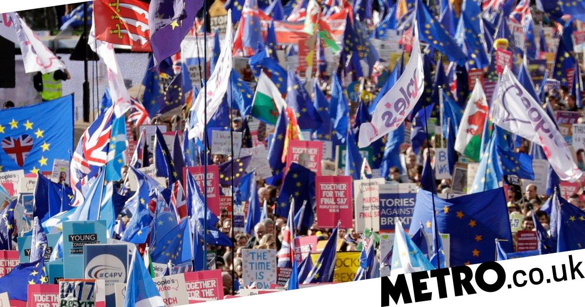 Thousands protest against Brexit as MPs debate Boris Johnson's deal