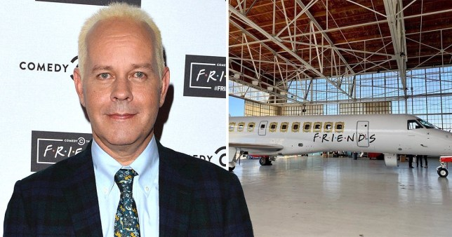 Gunther flies to Las Vegas on Friends plane and it's a miracle he made it because there's no phalange
