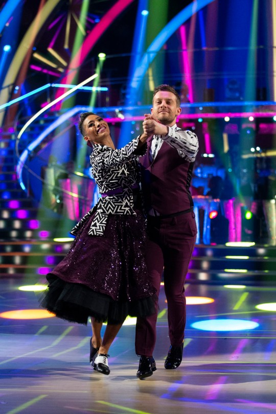 For use in UK, Ireland or Benelux countries only Undated BBC handout photo of Karen Hauer and Chris Ramsay during the BBC1 dance contest, Strictly Come Dancing. PA Photo. Issue date: Sunday October 20, 2019. See PA story SHOWBIZ Strictly. Photo credit should read: Guy Levy/BBC/PA Wire NOTE TO EDITORS: Not for use more than 21 days after issue. You may use this Issue without charge only for the purpose of publicising or reporting on current BBC programming, personnel or other BBC output or activity within 21 days of issue. Any use after that time MUST be cleared through BBC Issue Publicity. Please credit the image to the BBC and any named photographer or independent programme maker, as described in the caption.