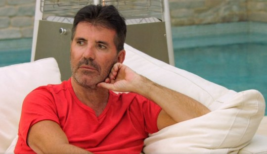 Where has Simon Cowell's usual uniform gone? (Picture: ITV)