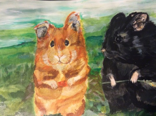 Hamster paintings