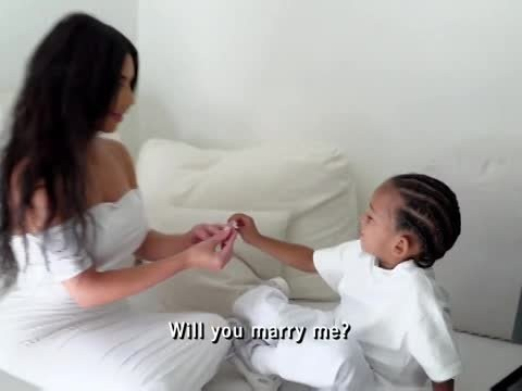 Saint West 'proposes' to Kim Karshashian in the cutest way in clip from Keeping Up With The Kardashians