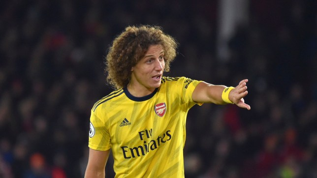 David Luiz issues instructions during Arsenal's defeat against Sheffield United