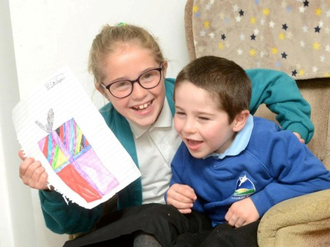 Girl designs Christmas cards to raise money for accessible room for disabled brother