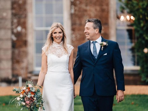 First look at Lisa Faulkner's wedding dress as she marries MasterChef's John Torode