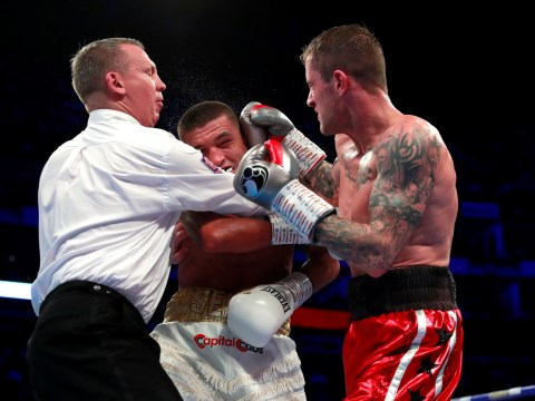 Furious Lee Selby held back by referee from confronting Ricky Burns after late punch