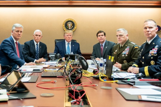 President Trump watched the mission from the Situation Room of the White House