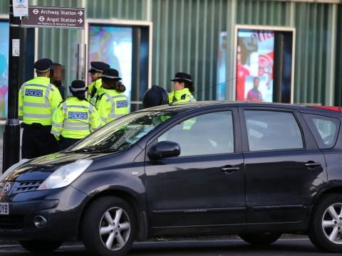 Panic as car drives between security bollards at Arsenal's Emirates Stadium
