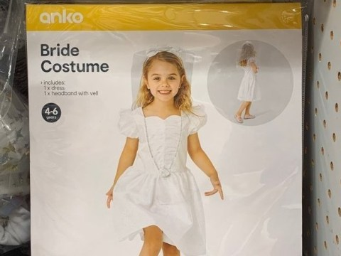 Parents are outraged by 'beyond inappropriate' bride costume for girls