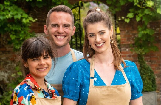 Bake Off 2019 finalists Steph, David and Alice