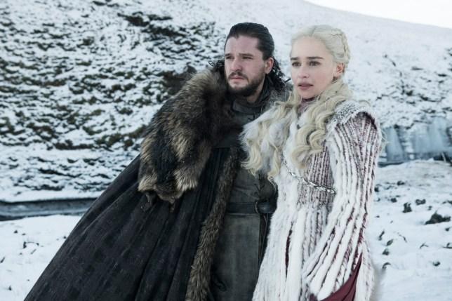Jon Snow and Daenerys Targaryen from Game Of Thrones