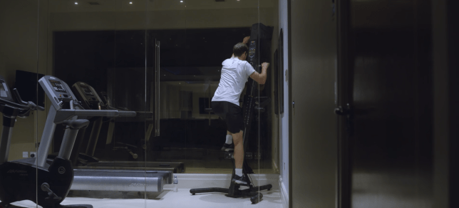 Andy Murray works out on the Versa Climber during his new documentary Resurfacing