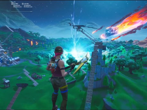 What is the Black Hole in Fortnite as the livestream goes down?