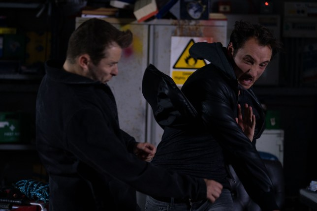 Ben is punched in EastEnders