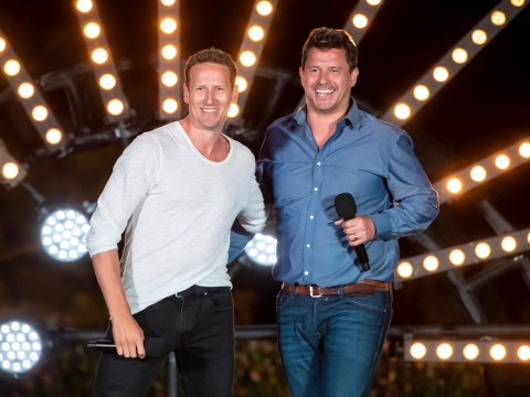 Exclusive first video Brendan Cole and Jeremy Edwards gearing up to confront Simon Cowell on X Factor: Celebrity 'Bring it on'