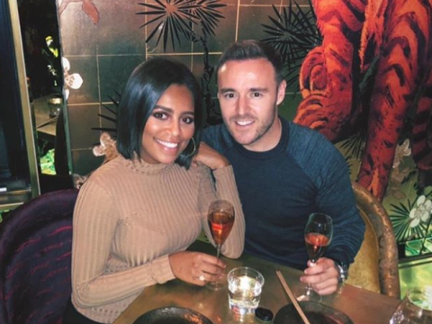Who is Alan Halsall and who is his girlfriend Tisha Merry?
