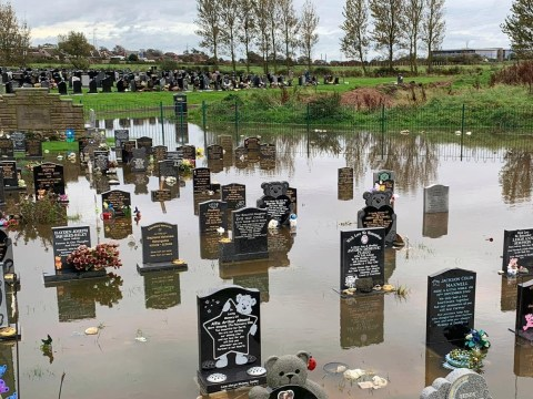 Distraught parents forced to tread water at baby cemetery 'that keeps flooding'