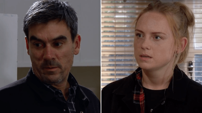 Cain Dingle and Amy Wyatt in Emmerdale
