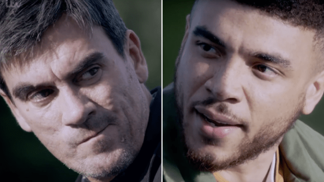 Cain Dingle and Nate Robinson in Emmerdale