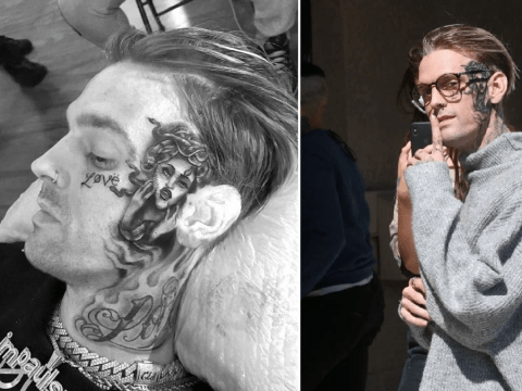 Aaron Carter's tattoo artist stopped him from getting Rihanna inking in the middle of his face