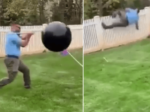 Gender reveal balloon refuses to pop, then flies away without revealing baby's sex