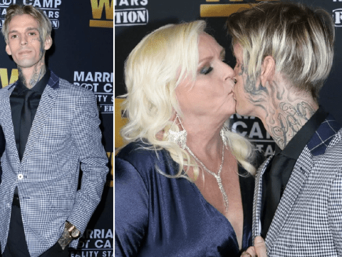 Aaron Carter kisses mum Jane on lips as they hit swanky red carpet after tough few months