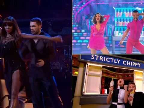 Strictly's Kelvin Fletcher sings Ain't No Sunshine as Mike Bushell screams for chips as last week's mics are turned on