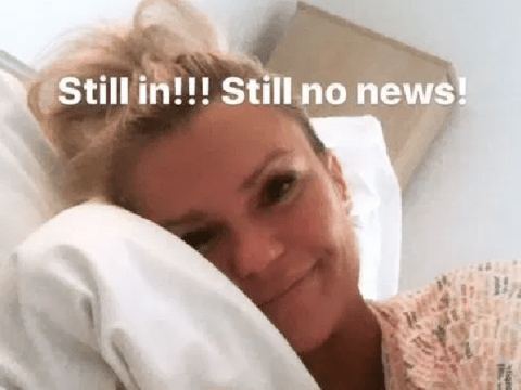 Kerry Katona posts worrying photos from hospital bed after mystery illness