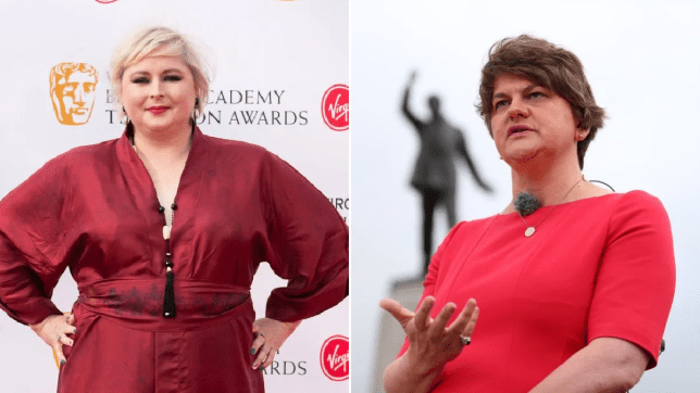 Siobhan McSweeney and Arlene Foster