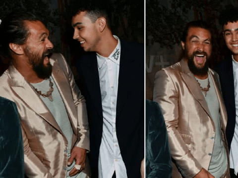 Jason Momoa has all the emotions as he rocks up to premiere of Apple series See in sharp suit