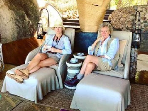 Rod Stewart and Penny Lancaster 'humbled' as they share 'amazing experience' with Maasai tribe